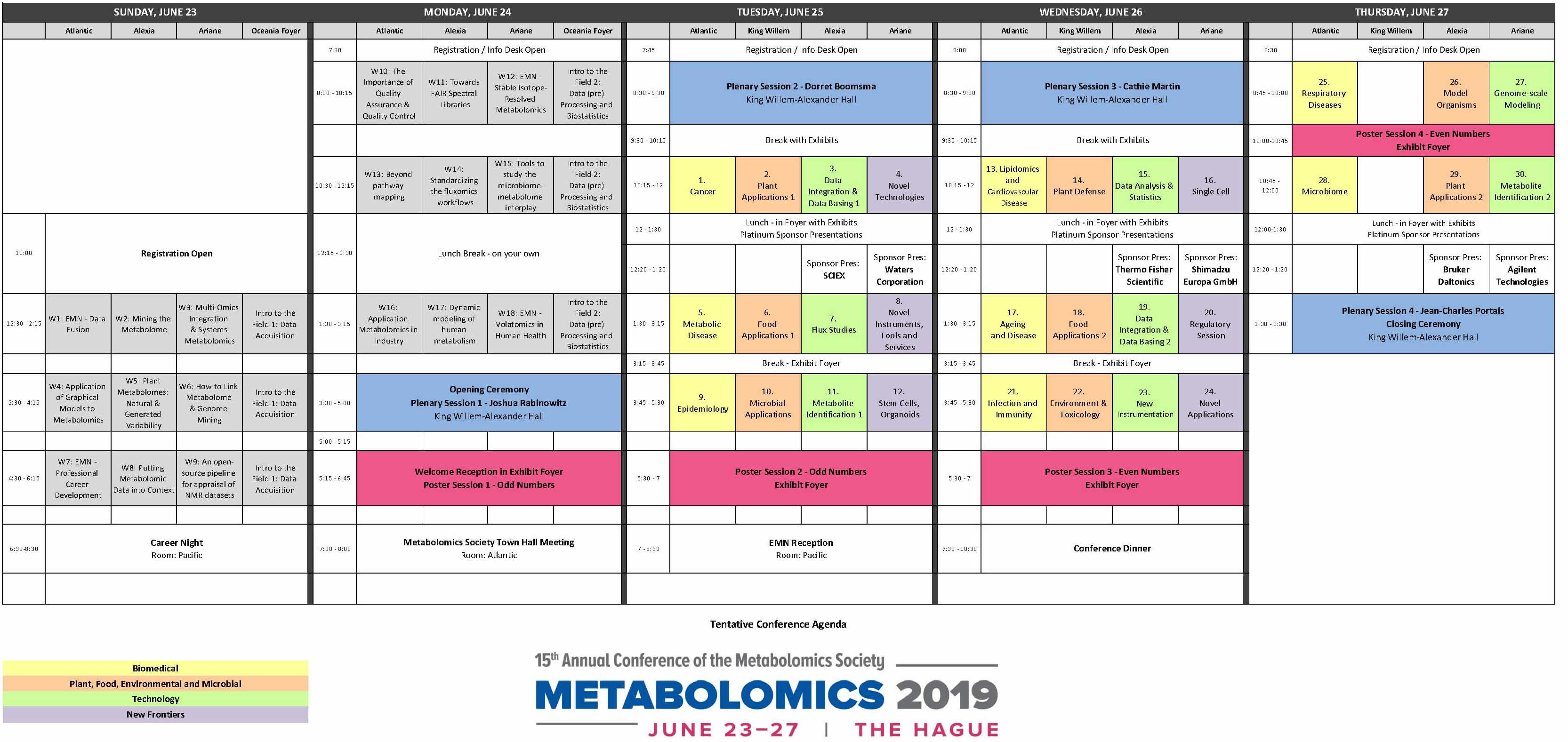 Metabolomics 2019 Agenda 6 13 19